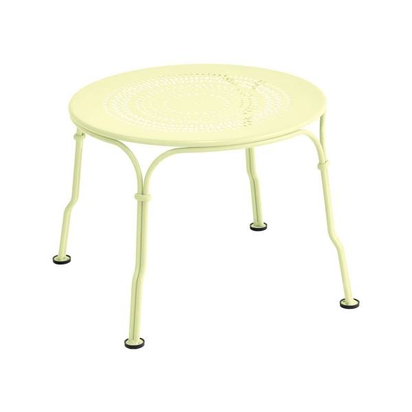 Fermob 1900 Low Table in Frosted Lemon