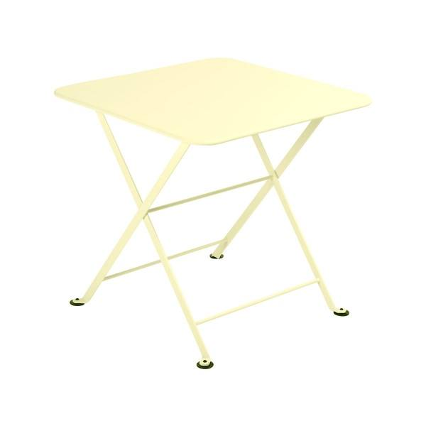 Fermob Tom Pouce Low Table 50 x 50cm in Frosted Lemon