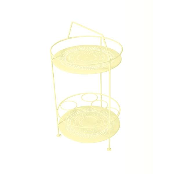 Fermob Montmartre Portable Bar in Frosted Lemon