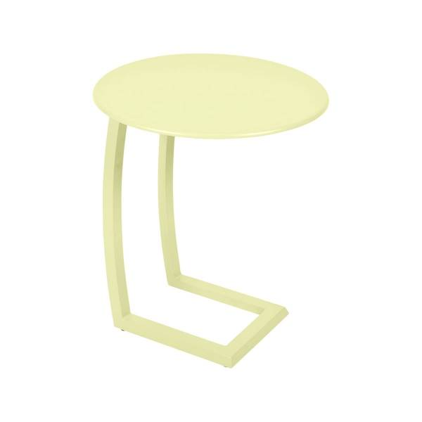 Fermob Alize Offset Low Table in Frosted Lemon