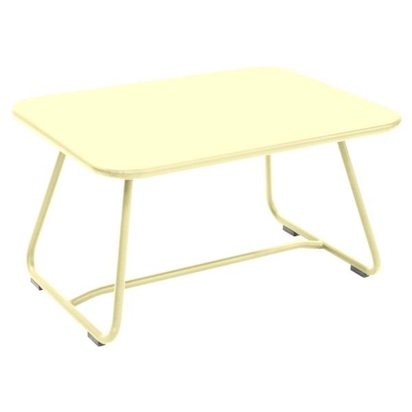 Fermob Sixties Low Table in Frosted Lemon