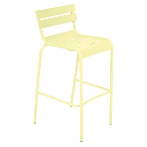 Fermob Luxembourg Bar Chair in Frosted Lemon