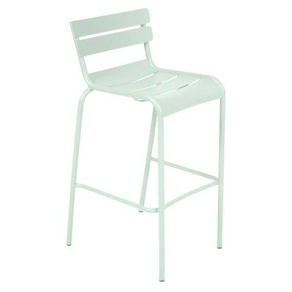 Fermob Luxembourg Bar Chair in Ice Mint