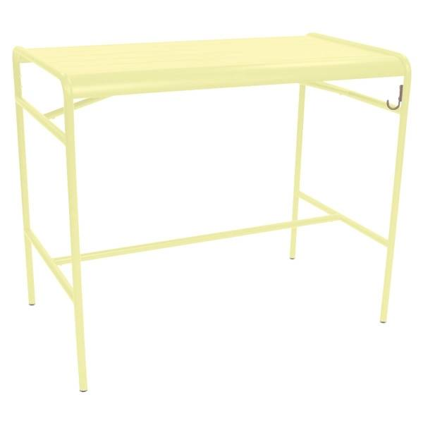Fermob Luxembourg High Table 126 x 73cm in Frosted Lemon