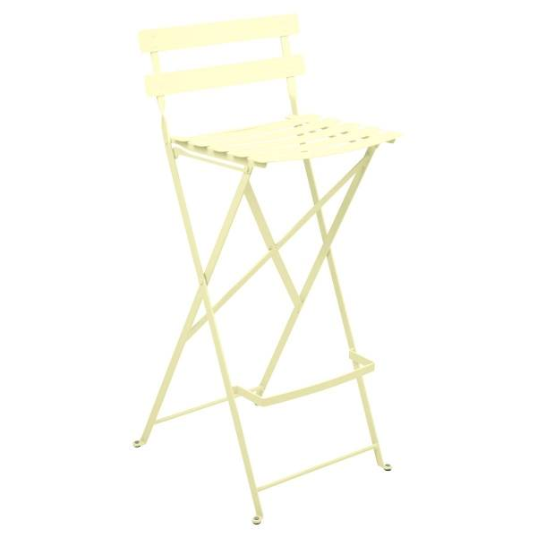Fermob Bistro High Stool in Frosted Lemon