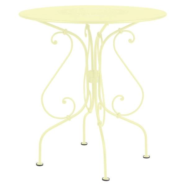 Fermob 1900 Table Round 67cm in Frosted Lemon
