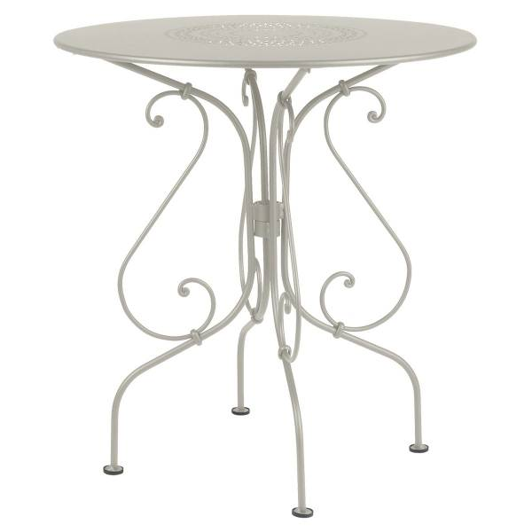 Fermob 1900 Table Round 67cm in Clay Grey