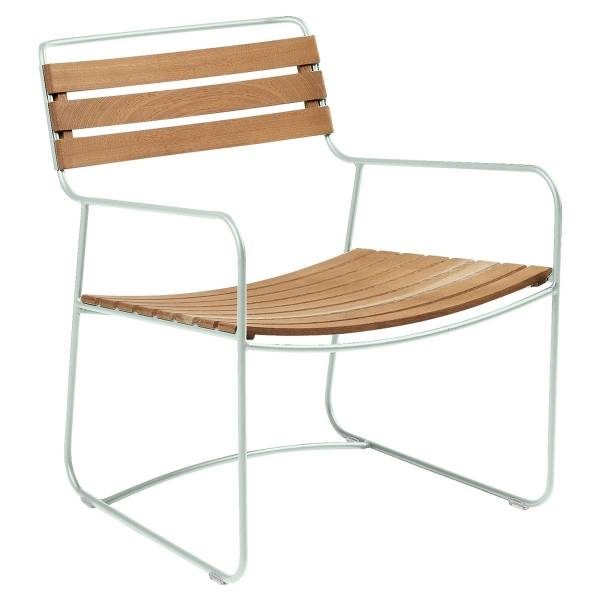 Fermob Low Armchair- Teak in Ice Mint
