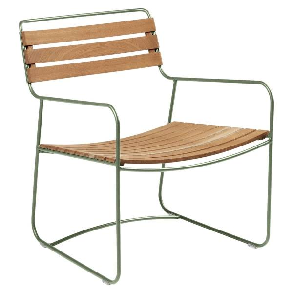 Fermob Low Armchair- Teak in Cactus