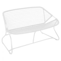 Sixties Outdoor Bench in colour Cotton White from Sixties Modern Outdoor Furniture