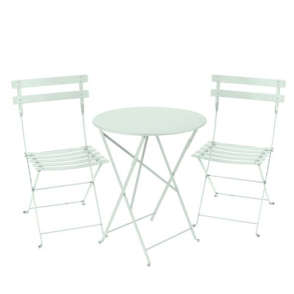 Fermob Bistro Set - 60cm Table and 2 Chairs in Ice Mint