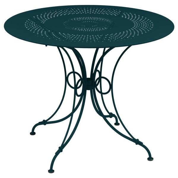 Fermob 1900 Table Round 96cm in Acapulco Blue