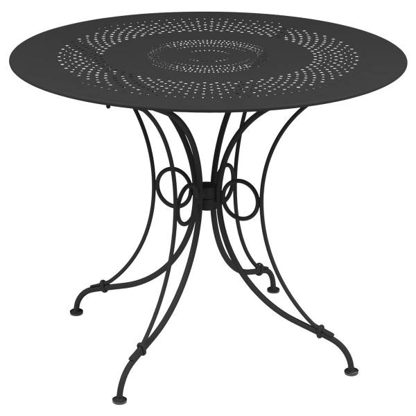 Fermob 1900 Table Round 96cm in Anthracite