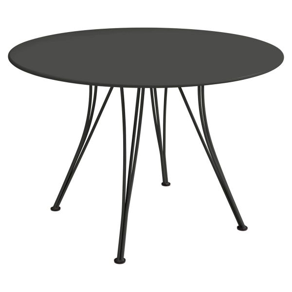 Rendez-vous Table Round 110cm in colour Liquorice from the Rendez-vous Range collection
