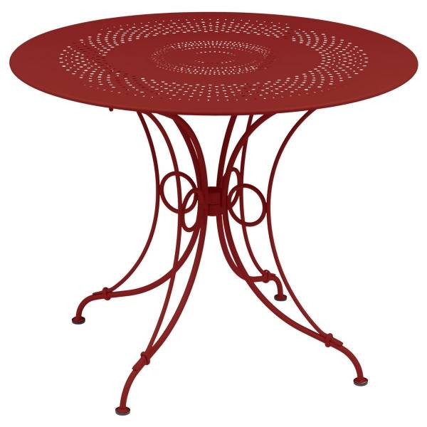 Fermob 1900 Table Round 96cm in Poppy