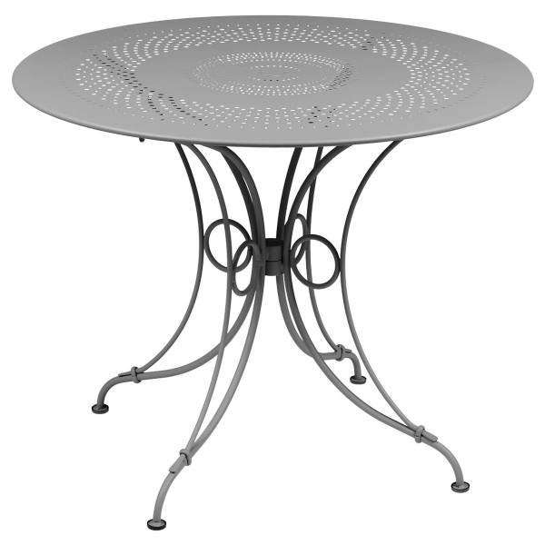 Fermob 1900 Table Round 96cm in Steel Grey