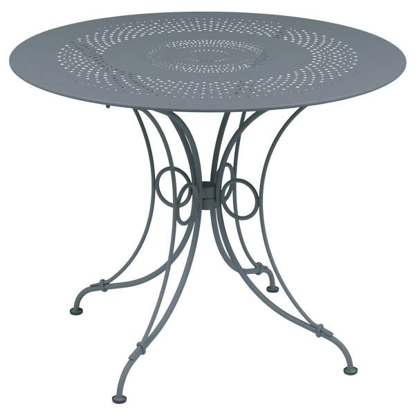 Fermob 1900 Table Round 96cm in Storm Grey