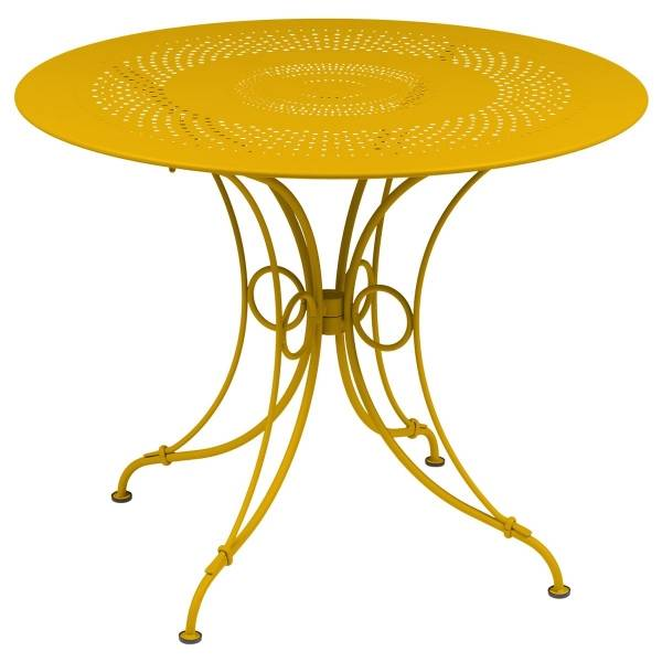 Fermob 1900 Table Round 96cm in Honey