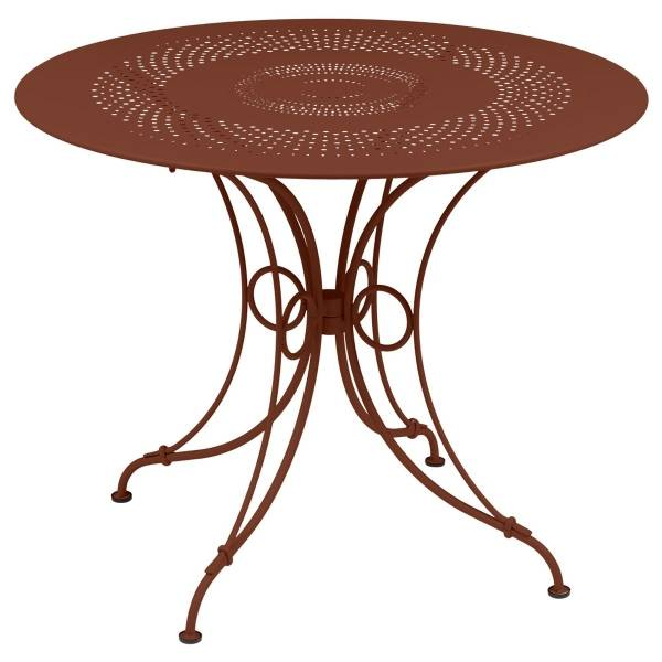Fermob 1900 Table Round 96cm in Red Ochre
