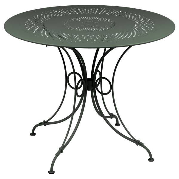 Fermob 1900 Table Round 96cm in Rosemary