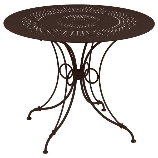 Fermob 1900 Table Round 96cm in Russet