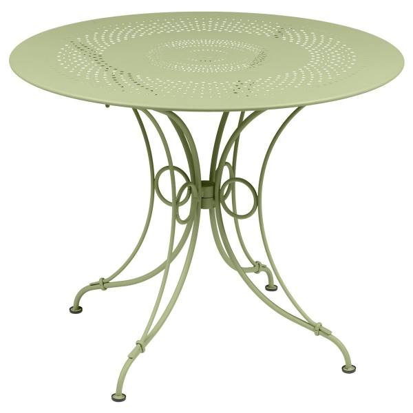 Fermob 1900 Table Round 96cm in Willow Green