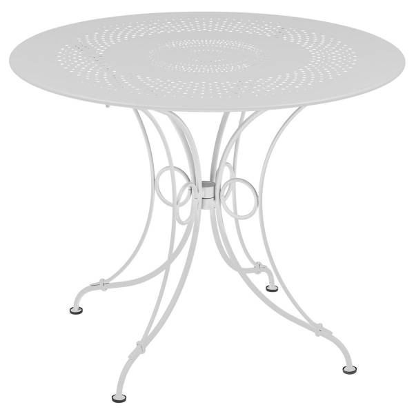 Fermob 1900 Table Round 96cm in Cotton White