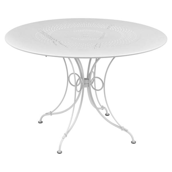 Fermob 1900 Table Round 117cm in Cotton White