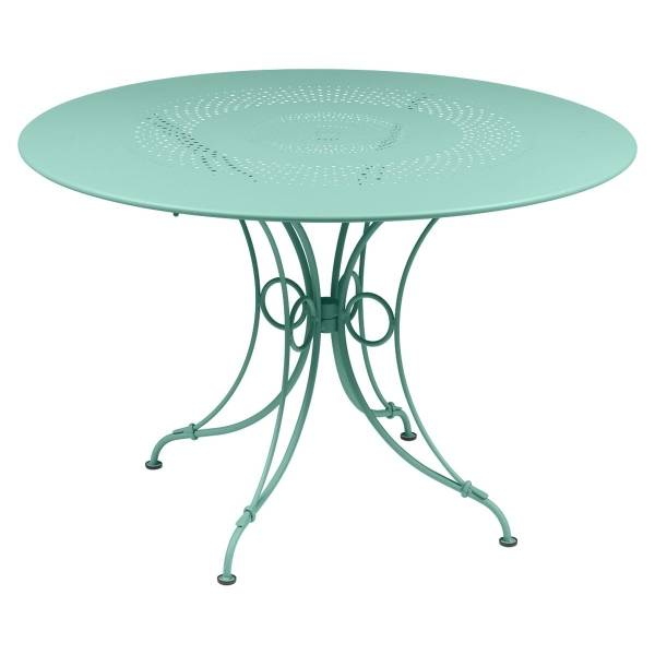 Fermob 1900 Table Round 117cm in Lagoon Blue
