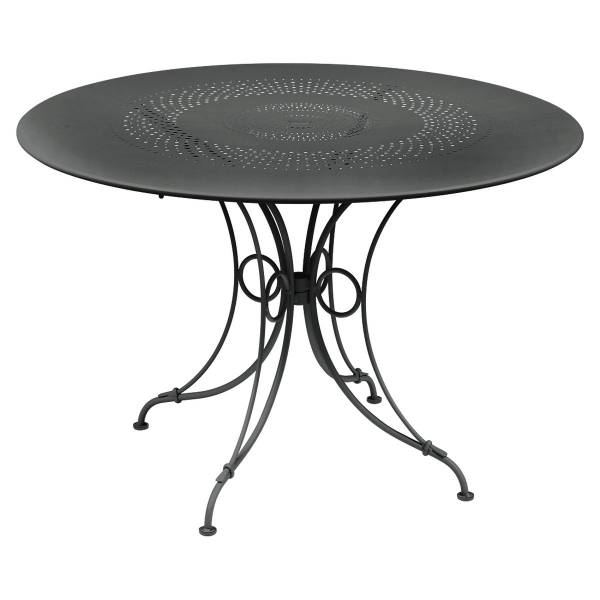 Fermob 1900 Table Round 117cm in Anthracite
