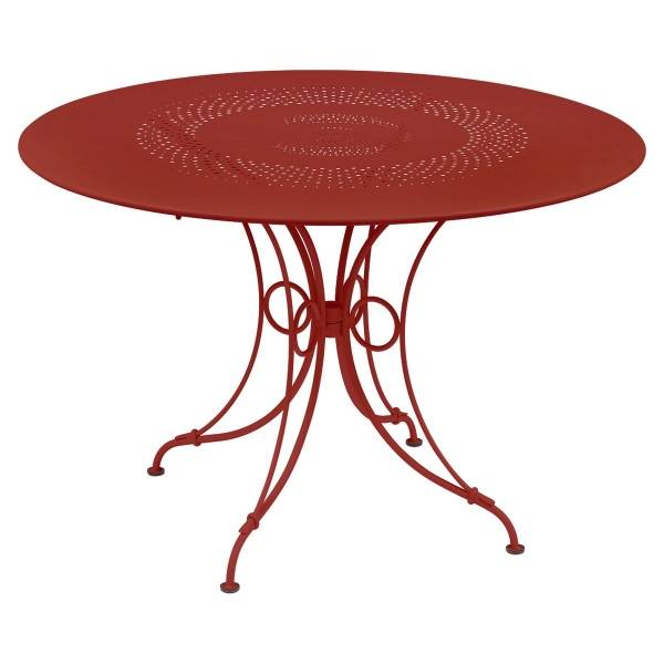 Fermob 1900 Table Round 117cm in Poppy