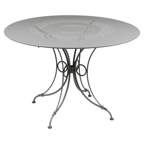 Fermob 1900 Table Round 117cm in Steel Grey