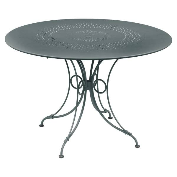 Fermob 1900 Table Round 117cm in Storm Grey