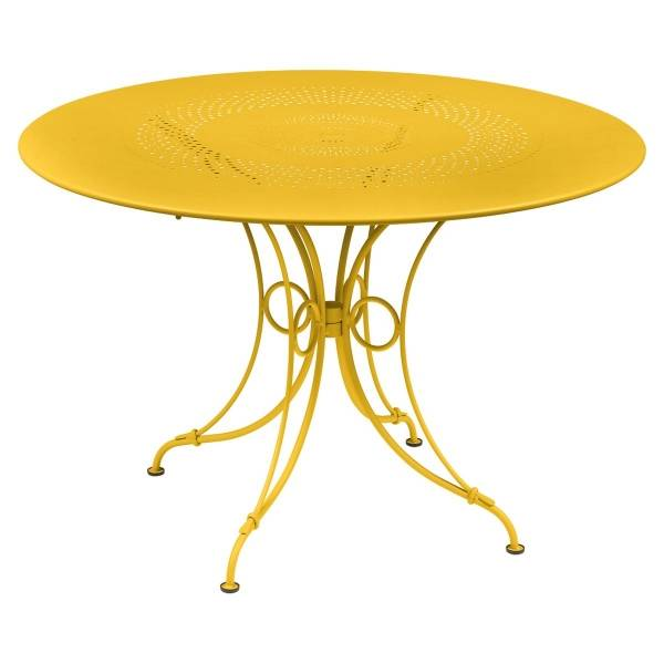 Fermob 1900 Table Round 117cm in Honey