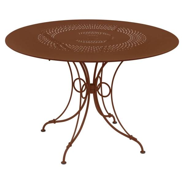 Fermob 1900 Table Round 117cm in Red Ochre
