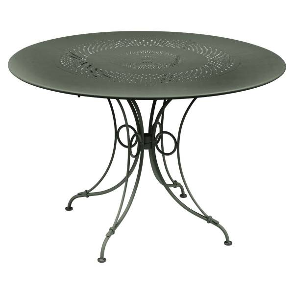 Fermob 1900 Table Round 117cm in Rosemary