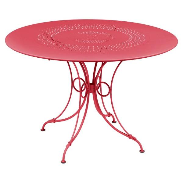 Fermob 1900 Table Round 117cm in Pink Praline