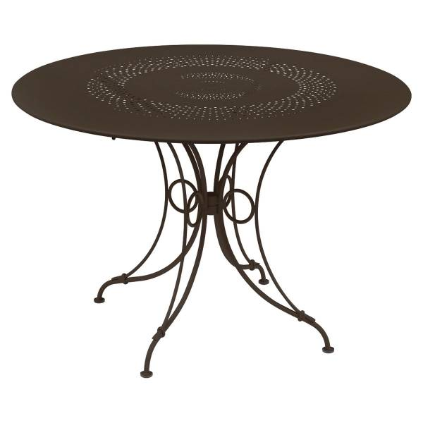 Fermob 1900 Table Round 117cm in Russet