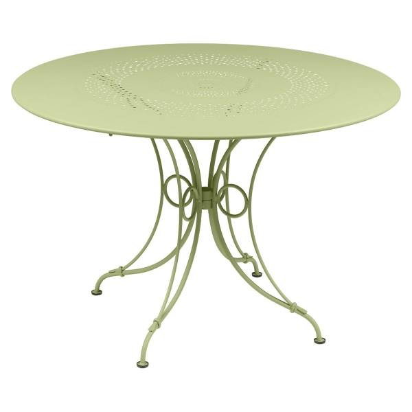Fermob 1900 Table Round 117cm in Willow Green