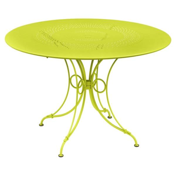 Fermob 1900 Table Round 117cm in Verbena