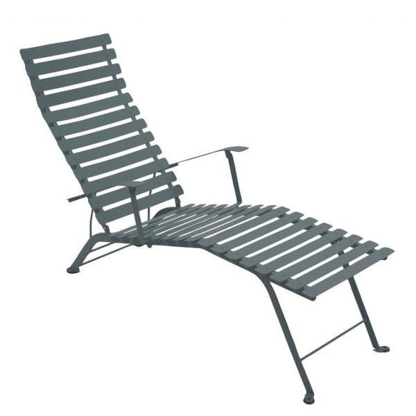 Fermob Bistro Deck Chair in Storm Grey