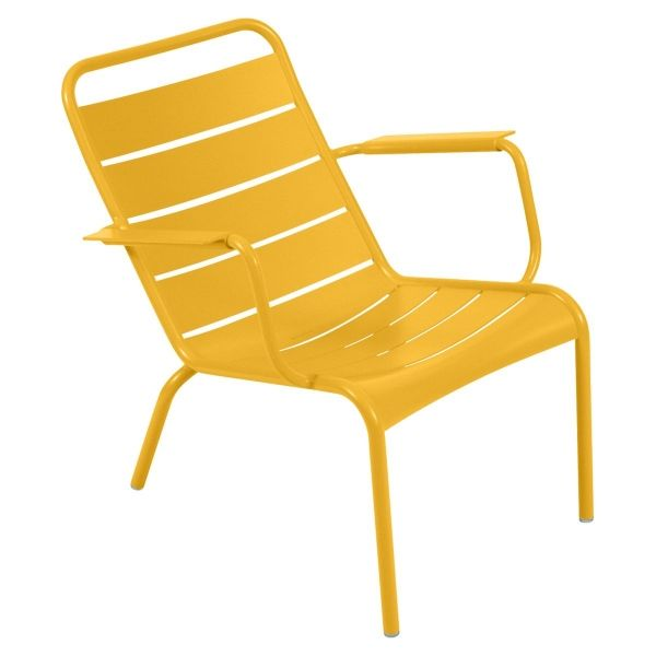 Fermob Luxembourg Low Armchair in Honey