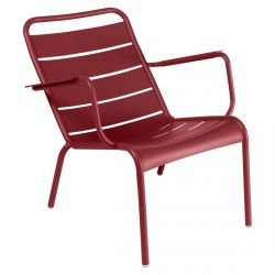 Luxembourg Low Outdoor Armchair in colour Chilli from Luxembourg Aluminium Outdoor Furniture