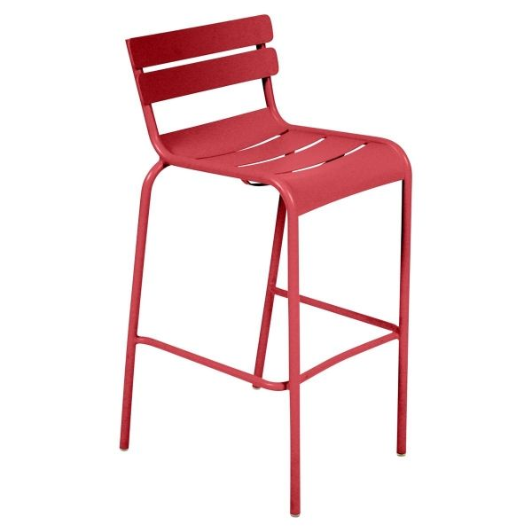 Fermob Luxembourg Bar Chair in Poppy