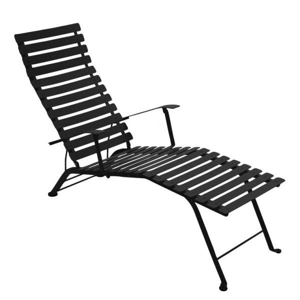 Fermob Bistro Deck Chair in Liquorice
