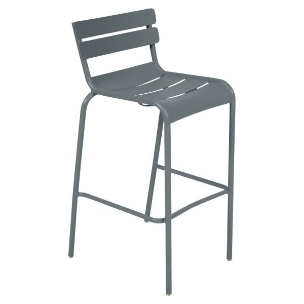 Fermob Luxembourg Bar Chair in Storm Grey