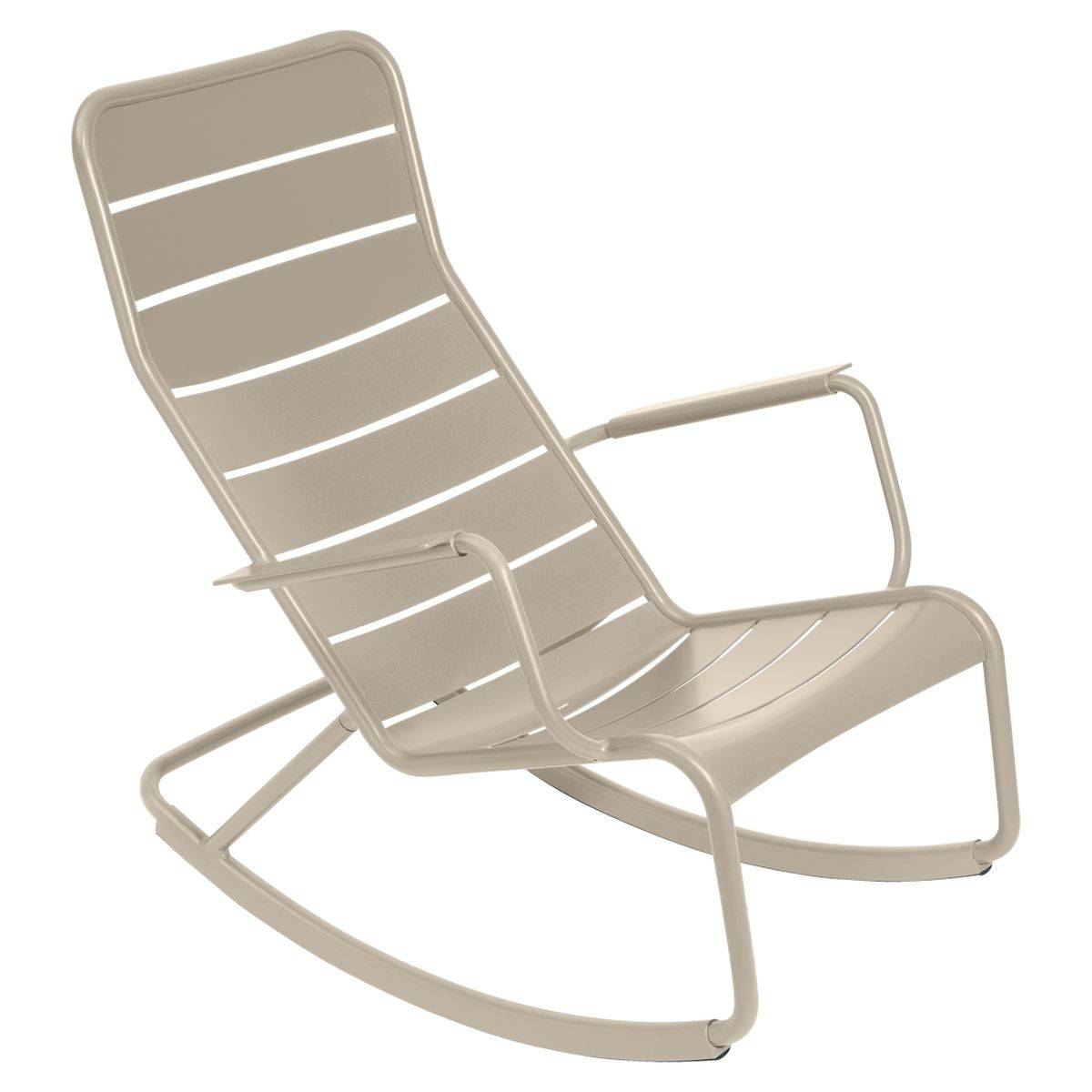 Luxembourg outdoor rocking chair in colour nutmeg from luxembourg modern outdoor furniture nutmeg