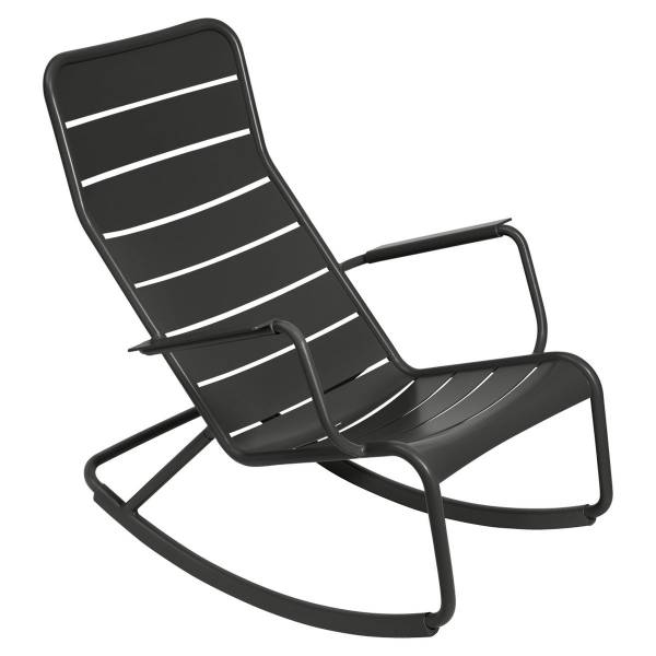 Fermob Luxembourg Rocking Chair in Liquorice