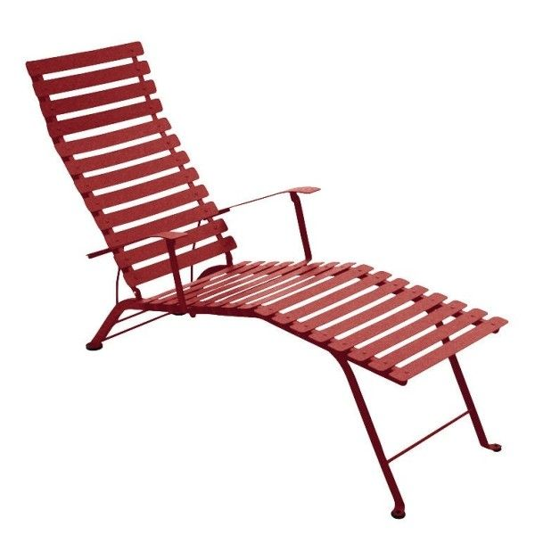 Fermob Bistro Deck Chair in Chilli