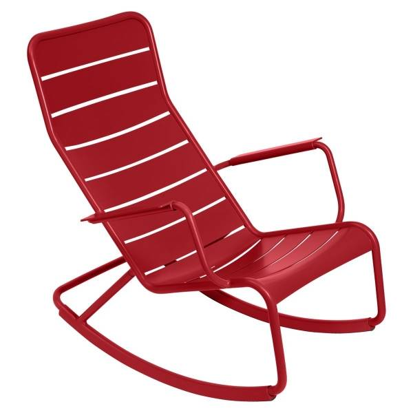Fermob Luxembourg Rocking Chair in Poppy